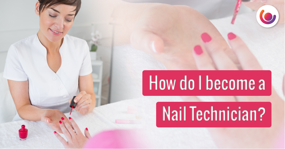nail technician attending to a ladies' nails