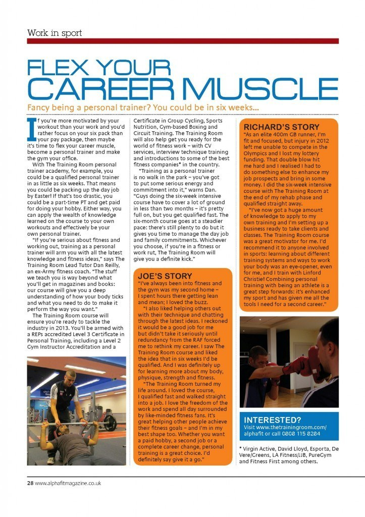 The Training Room Alpha Fit Magazine