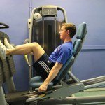 Carl Anstey Training Leg Press