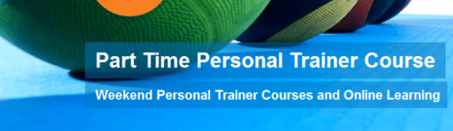 Part time personal trainer courses banner