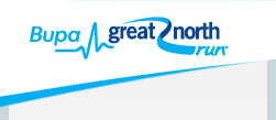 Bupa great north run logo