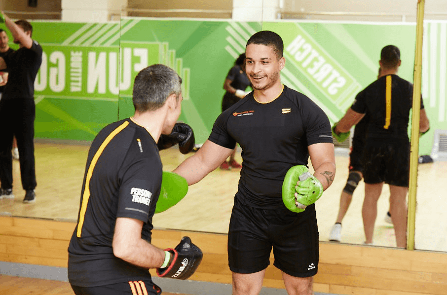 Personal Training Students Practise Gym Based Boxing