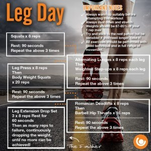 Leg Day Workout Infographic