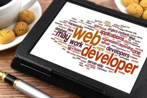 Web Developer vocabulary on a tablet